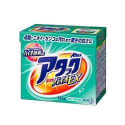 """Kao """"Bio - Attack Extra""""– Стиральный порошок с высокой активностью компонентов для светлого белья, 1 кг."""