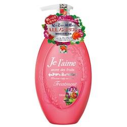 """Kose Cosmeport """"Je l'aime"""" : Тритмент для сухих и окрашенных волос """"Глубокое увлажнение"""", с коллагеном и абрикосовым маслом, без силикона, с фруктово-цветочным ароматом, 500 мл."""