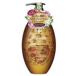 """Kose Cosmeport """"Je l'aime"""" : Шампунь для сухих волос с гиалуроновой кислотой """"Восстановление и увлажнение"""", без силикона, с ароматом белых цветов, 500 мл."""