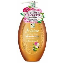 """Kose Cosmeport """"Je l'aime"""" : Тритмент для сухих волос с гиалуроновой кислотой """"Восстановление и увлажнение"""", без силикона, с ароматом белых цветов, 500 мл."""