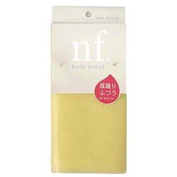 O:he Body Towel : Массажная мочалка средней жёсткости, желтая, 20 см. на 100 см.