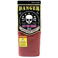 Yokozuna Death Ultra Hard Body Towel : Массажная мочалка ультра жесткая. Красная. 30х120 см.