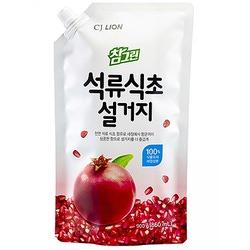 """CJ Lion Chamgreen : """"Гранат"""": Cредство для мытья посуды, овощей и фруктов с экстрактом граната. С фруктовым ароматом. 860 мл."""