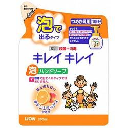 """Lion """"KireiKirei"""" : """"Фруктовый микс"""" Жидкое мыло-пенка для рук для детей и взрослых с антибактериальным эффектом, сменная упаковка, 200 мл."""