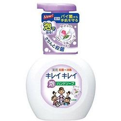 """Lion """"Kireikirei"""" : Жидкое мыло-пенка для рук для детей и взрослых с антибактериальным эффектом и ароматом цветов, 250 мл."""