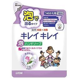 """Lion """"Kireikirei"""" : Жидкое мыло-пенка для рук для детей и взрослых с антибактериальным эффектом и ароматом цветов, сменная упаковка, 200 мл."""
