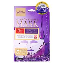 Japan Gals «Pure5 Essence Premium» : Маска для лица c тремя видами плаценты, 30 шт.