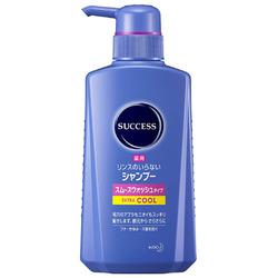 Kao Success Cool : Мужской шампунь-ополаскиватель, с охлаждающим эффектом, разглаживающий против перхоти и зуда кожи головы, 400 мл.