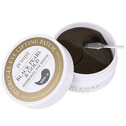 Petitfee Black Pearl & Gold Hydrogel Eye Patch : Гидрогелевые патчи для век с чёрным жемчугом и золотом. 60 шт.
