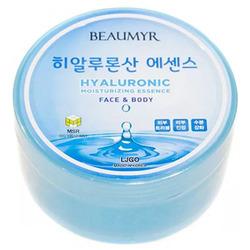Juno Beaumyr Hyaluronic : Успокаивающий гель эссенция с Гиалуроновой кислотой для всех типов кожи, 300 мл.