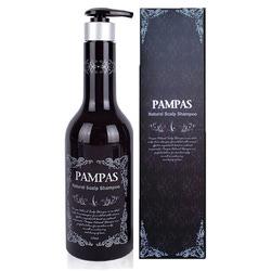 Pampas Natural Scalp Shampoo : Натуральный шампунь Пампас. Против выпадения волос. Укрепляющий. С высоким содержанием натуральных компонентов. 550 мл.