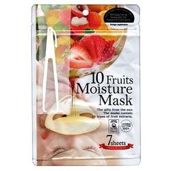 Japan Gals Japan Gals 10 Fruits Moisture Essence Mask : Маска для лица питательная с экстрактом 10 фруктов. 7 шт. уп.
