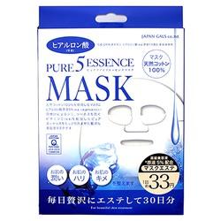 Japan Gals Japan Gals 5 Pure Essence Hyaluronic Acid Mask : Маска для лица с гиалуроновой кислотой. Комплект. 30 шт.