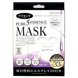 Japan Gals Japan Gals 5 Pure Essence Placenta Mask : Маска для лица с экстрактом плаценты. Комплект. 30 шт.
