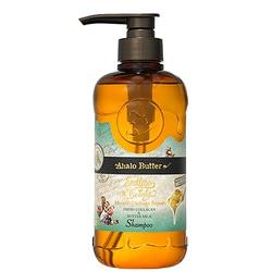 Cosme Company Ahalo Butter Moist & Repair Shampoo : Шампунь увлажняющий и восстанавливающий на растительной основе с тропическими маслами, коллагеном и аминокислотами (без сульфатов и силикона) 500 мл.