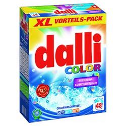 Dalli Color NEW : Порошок для стирки всех видов цветного текстиля. Содержит формулу долговременной защиты цвета. 3,120 кг.